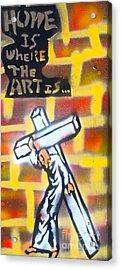 Bearing The Cross Acrylic Print