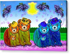 Bears Acrylic Print by Victoria Regueira