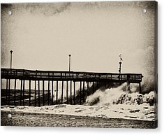 Acrylic Print featuring the photograph Beatin' Pier by Kelly Reber