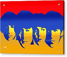 Beatles Pop Acrylic Print by Carvil