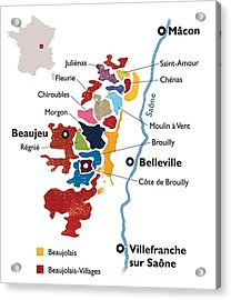 Beaujolais Acrylic Print by None