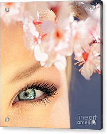 Beautiful Blue Eye Acrylic Print by Anna Om