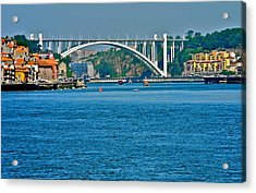 Acrylic Print featuring the photograph Beautiful Bridge In Porto by Kirsten Giving