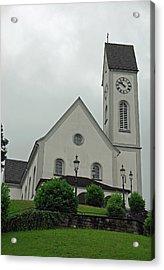 Beautiful Church In The Swiss City Of Lucerne Acrylic Print by Ashish Agarwal