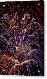 Beautiful Fireworks Acrylic Print by Garry Gay