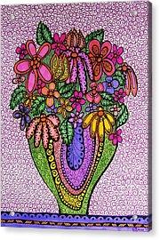 Beautiful Floral Imagination  Acrylic Print by Gerri Rowan