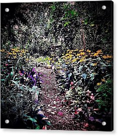 Beautiful Garden Path - New York City Acrylic Print by Vivienne Gucwa