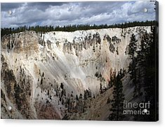 Acrylic Print featuring the photograph Beautiful Lighting On The Grand Canyon In Yellowstone by Living Color Photography Lorraine Lynch