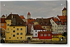 Acrylic Print featuring the photograph Beautiful Regensburg by Kirsten Giving