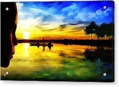 Beautiful Sunset Acrylic Print by Vidka Art