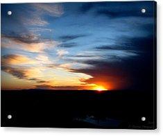 Beautiful Tanoan Spring Skies Acrylic Print by Aaron Burrows