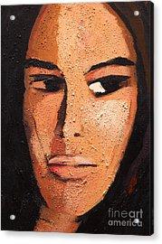 Beautiful Woman Acrylic Print by Lutz Baar
