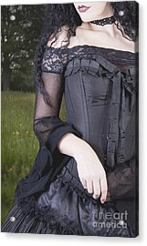 Acrylic Print featuring the photograph Beautiful Young Woman In Field by Ethiriel  Photography