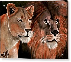Beauty And Her Beast Acrylic Print