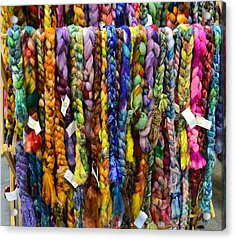 Beauty In Braided Roving Acrylic Print by Mary Zeman