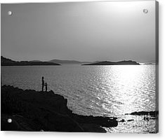 Beauty Of Mykonos Acrylic Print by Leslie Leda