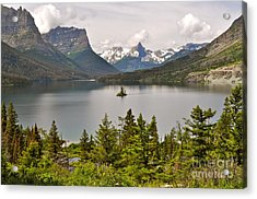 Acrylic Print featuring the photograph Beauty Of St. Mary's Lake by Johanne Peale