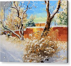 Beauty Of Winter Santa Fe Acrylic Print by Gary Kim