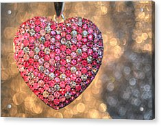 Bedazzle My Heart Acrylic Print by Shelley Neff