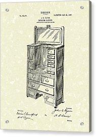 Bedroom Cabinet Design 1907 Patent Art Acrylic Print