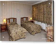 Beds In Hotel Room Acrylic Print