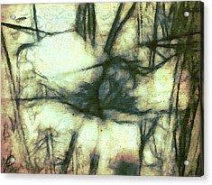 Bee Flowered Acrylic Print by Jenn Bodro