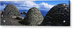 Beehive Huts At The Coast, Skellig Acrylic Print by The Irish Image Collection