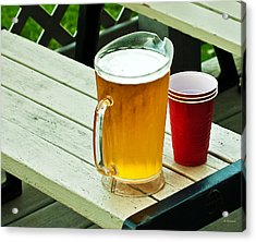 Beer 30 Now Acrylic Print by Edward Peterson