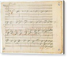 Beethoven Manuscript, 1806 Acrylic Print by Granger