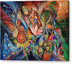 Before First Sin ... Original On Www.elenakotliarker.com Acrylic Print by Elena Kotliarker