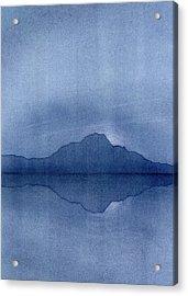 Before The Moonrise Acrylic Print by Hakon Soreide