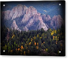 Acrylic Print featuring the photograph Beginning Of Mountain Fall by Michelle Frizzell-Thompson