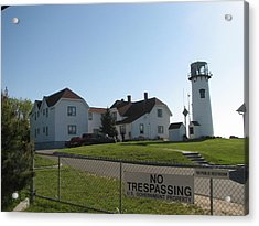 Behind Chatham Light Acrylic Print by Heather Gwyn Twomey