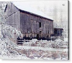 Behind The Barn Acrylic Print by Kathy Jennings