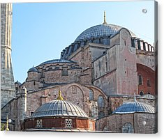 Behind The Blue Mosque Acrylic Print by Linda Pulvermacher