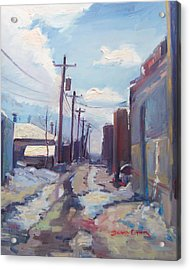 Behind The City Of Craig  Acrylic Print by Brandy Cattoor