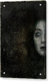 Behind The Door Acrylic Print by Hazel Billingsley