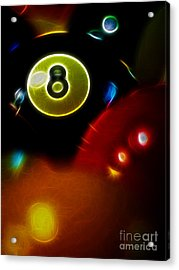 Behind The Eight Ball - Vertical Cut - Electric Art Acrylic Print by Wingsdomain Art and Photography