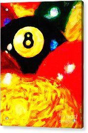 Behind The Eight Ball - Vertical Cut Acrylic Print by Wingsdomain Art and Photography