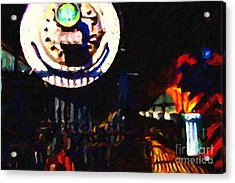 Behind The Gates At The Old Locomotive House . Painterly . Vision 2 Acrylic Print by Wingsdomain Art and Photography