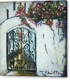 Behind The Iron Gate Acrylic Print by Therese Alcorn