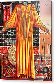 Behind The Veil Part One Asif Acrylic Print by Yvonne Ayoub