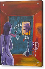 Behind The Wall Of Innocence Acrylic Print by Christophe Ennis