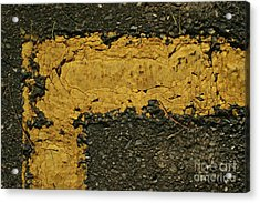 Behind The Yellow Line Acrylic Print