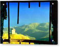 Acrylic Print featuring the mixed media Beigua Landscape From Miniera House by Enrico Pelos