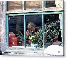 Beijing Kitchen Window Acrylic Print