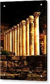 Beit She'an - Ancient Site - Colonnade.. Cardo 2 Acrylic Print by Itzhak Richter