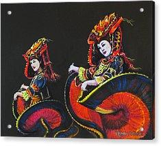 Bejing Beauties Acrylic Print by Tanja Ware