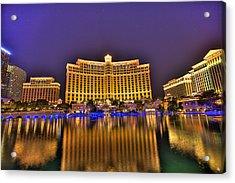 Belagio Las Vegas Acrylic Print by Nicholas  Grunas