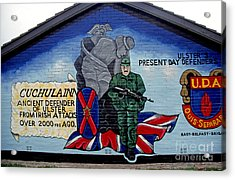 Belfast Mural Acrylic Print by Thomas R Fletcher